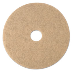 "3M Ultra High-Speed Natural Blend Floor Burnishing Pads 3500, 17"" Dia., Tan, 5/CT"