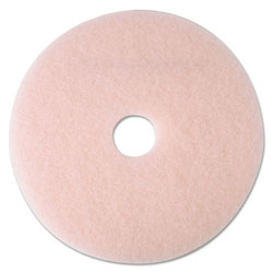 "3M Ultra High-Speed Eraser Floor Burnishing Pad 3600, 17"" Diameter, Pink, 5/Carton"