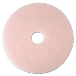 "3M Ultra High-Speed Eraser Floor Burnishing Pad 3600, 21"" Diameter, Pink, 5/Carton"