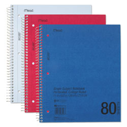Mead Mid Tier Notebook, Perforated Pages, 11 x 8 1/2, 80 Sheets
