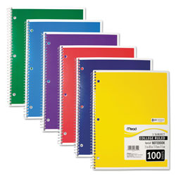 Mead Bound Single Subject Notebook, 11 x 8 1/2 Size, 100 Sheets