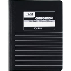 "Mead Composition Book, Special Ruled, 9 3/4""x7 1/2"", Black Marble"