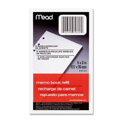 "Mead Looseleaf Memo Books 80/ Pack 5"" x 3"""