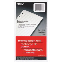 "Mead Looseleaf Memo Books 80/ Pack 6 3/4"" x 3 3/4"""
