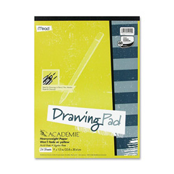 "Mead Academie Drawing Pads 9"" x 12"", 24 Sheets"