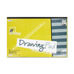 "Mead Academie Drawing Pads 18"" x 12"", 24 Sheets"