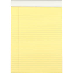 Mead Cambridge Stiff Back Legal Pads Canary, 70 Sheets