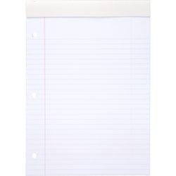 Mead Cambridge Stiff Back Legal Pads 3 Hole Letter White, 70 Sheets