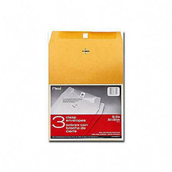 "Mead Clasp Envelopes, Heavyweight, 10""x13"", Brown Kraft"