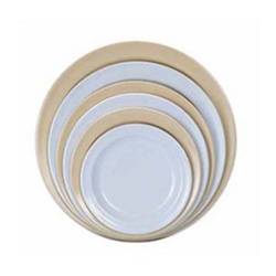 "Admiral Craft Melamine Plate 9"" Tan"