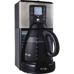 Classic Coffee Concepts Coffeemaker, 12-Cup, 1Mo Water Filter, Black/Silver