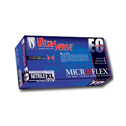 Micro Flex USE880L EC Extended Cuff Powder Free Nitrile Gloves, Large