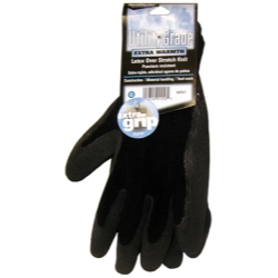 Magid Black WInter Knit, Latex Coated Palm Gloves - Extra Large