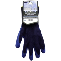 Magid Navy Blue, Winter Knit, Latex Coated Palm Gloves - Medium