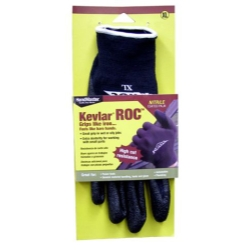 Magid Kevlar ROC Nitrile Coated Palm, Black Kevlar Lycra Shell Glove - Large