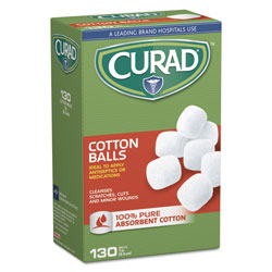 "Medline Sterile Cotton Balls, 1"", 130/Box"