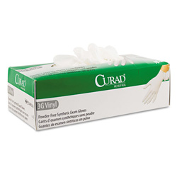 Curad Extra LarPowder-Free Medical Vinyl Gloves, Box of 90