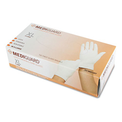 Medline Media Sciences MediGuard Powdered Latex Exam Gloves, X-Large, 90/Box