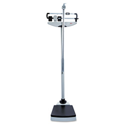 "Medline Classic Mechanical Beam Scale with 700 lb. Capacity, 13 3/4"" x 14 1/4"" Platform"