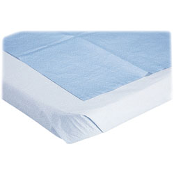 "Medline Stretcher Sheet, Disposable, 40""x90"", 50/BX, Blue"