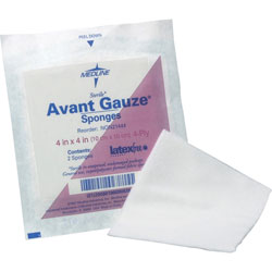 "Medline Gauze Sponges, Nonwoven, Nonsterile, 3"" x 3"" 4 Ply, 200/PK, White"
