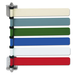 Medline OMD291716 Room ID Flag System, 6 Flags, Primary Colors