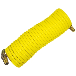 "Milton 1/4"" x 12' Nylon Re-Koil Air Hose, Yellow"