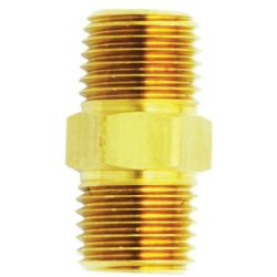 Milton Male Hex Nipple Brass Fitting - 2 Pack