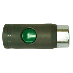 "Milton 1/4"" NPT female, ""T"" Style Safety Coupler"