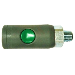 "Milton 1/4"" NPT Male, ""T"" Style Safety Coupler"