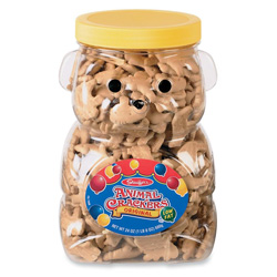 Marjack Bear Cookie Jar with Animal Crackers in Re-usable Container, 24 Ounce