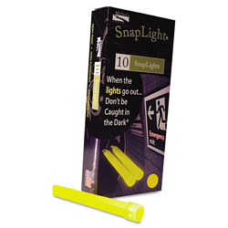 "Miller's Creek Snaplights, 6""l x 3/4""w, Yellow, 10/Pack"