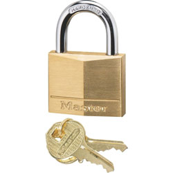 Master Lock Company Solid Brass Padlock, Corrosion Protection, Brass
