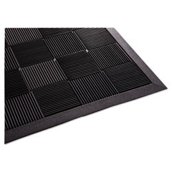 Guardian Parquet Wiper Scraper Mat, 36 x 60, Black