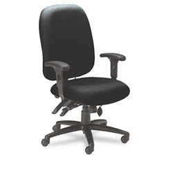 Mayline 24 Hour Series Swivel Task Chair, Black Fabric