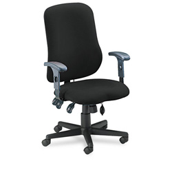 Mayline Comfort Series Swivel Task Chair, Black Fabric