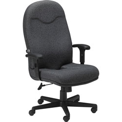 Mayline Comfort Series High Back Executive Swivel Task Chair, Gray Fabric