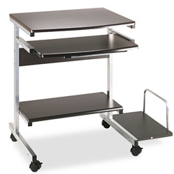 Mayline Portrait Mobile PC Workstation, 36-1/2w x 28-1/2d x 30h, Charcoal Laminate Top