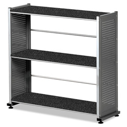 "Mayline Bookcase 3-Shelf, 31-1/4""x11""x31, Anthracite"