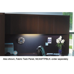 Mayline Aberdeen Wood Door Hutch, 72W x 15D x 39H, Chocolate