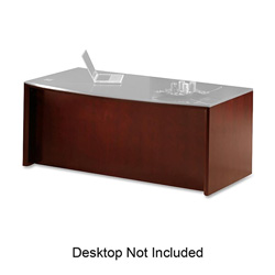 Mayline Corsica Series Bow Front Desk Base, 31-1/2w x 2d x 28-3/4h, Sierra Cherry