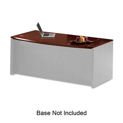 Mayline Corsica Series Bow Front Desk Top and Modesty Panel, 72w x 36d, Sierra Cherry