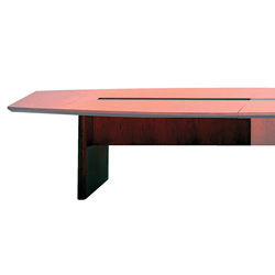 "Mayline Corsica Series 72"" Wide Table Base, Mahogany"