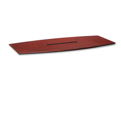 Mayline Corsica Boat Shape Conference Table Top, 96w x 42d, Sierra Cherry