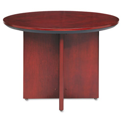 Mayline Corsica Conference Table, Round, 29-1/2h x 42dia, Sierra Cherry