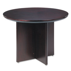 Mayline Corsica Conference Table, Round, 29-1/2h x 42dia, Mahogany