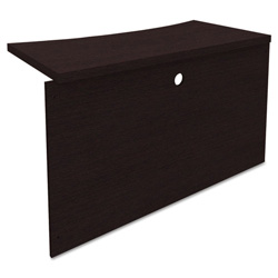 Mayline Mira Series Wood Veneer Bridge, 48w x 24d x 29 1/2h, Medium Cherry