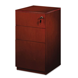 Mayline Luminary Series Box/Box/File Pedestal, 15w x 19d x 29h, Cherry