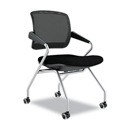 Mayline Valore Series Mid Back Swivel Task Chair, Black Mesh Fabric