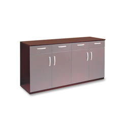 Mayline Corsica Series Buffet Credenza Cabinet, 72w x 22d x 36h, Mahogany
